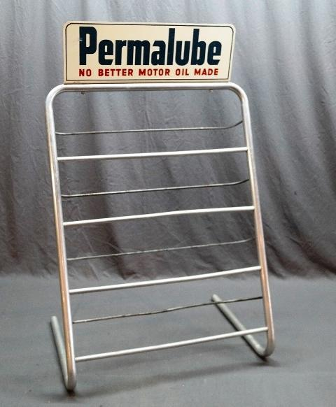 Permalube Service Station Island Rack with Sign