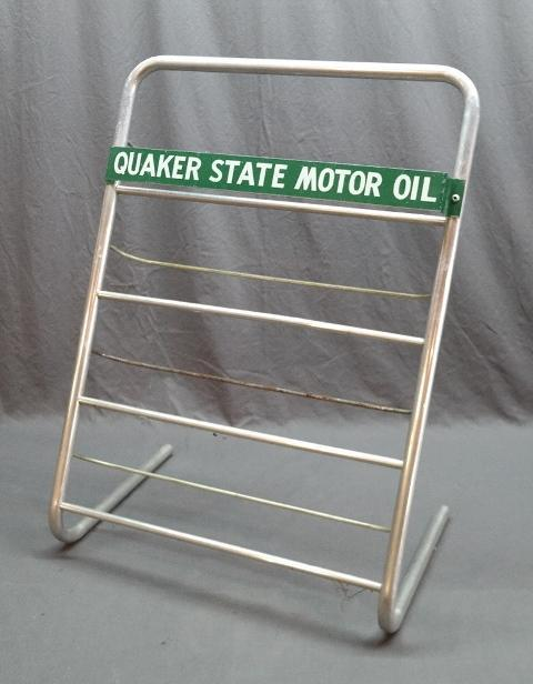 Quakerstate Motor Oil Service Station Island Can Rack