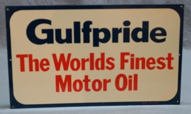 Gulfpride The Worlds Finest Motor Oil Metal Sign