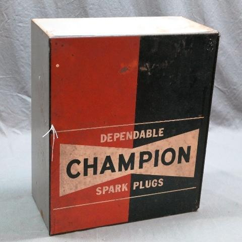 Champion Spark Plugs shop Cabinet
