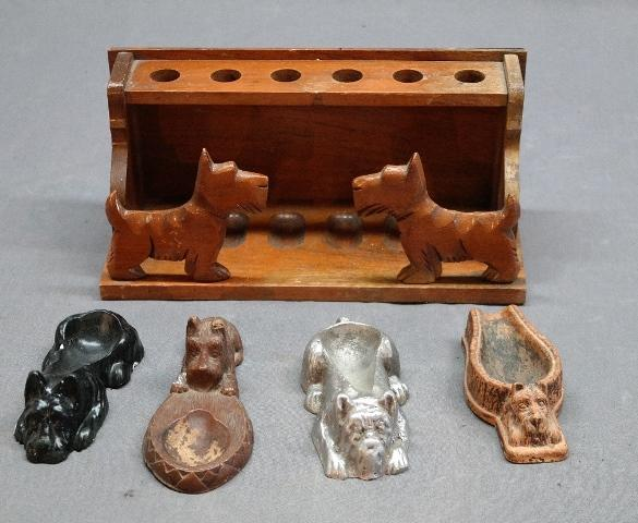 Lot of Scottie Dog Pipe Stands