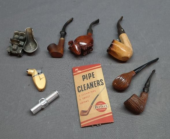Lot of Pipes and Accessories/Stands