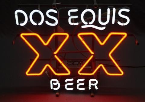 Dos Equis Beer Advertising Neon Sign
