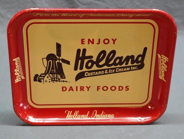 Holland Custard & Ice Cream Dairy Foods Tray- Red Band