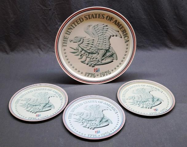 1976 Pepsi United States Bicentennial Trays in 2 Sizes
