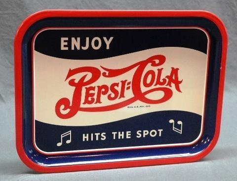 Enjoy Pepsi Double Dot Pepsi Hits the Spot Tray- Super Clean