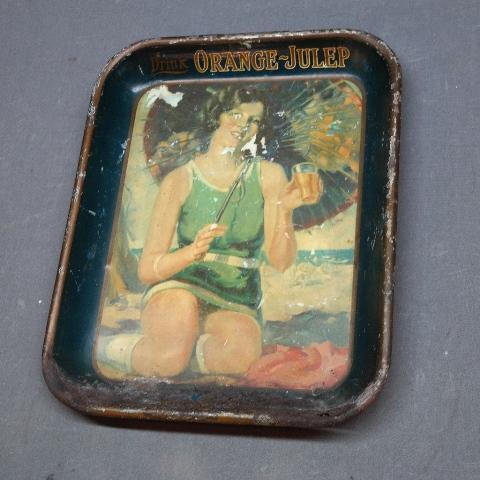 Drink Orange-Julep Advertising Tray- Early 1920s