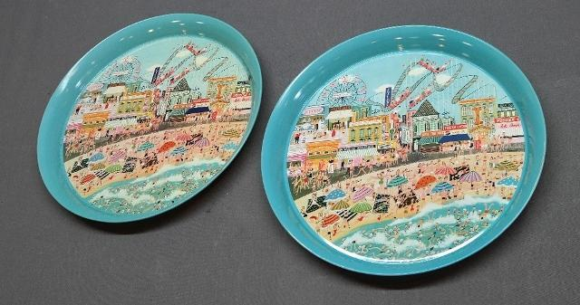 Set of 2 Pepsi-Cola Coney Island Trays