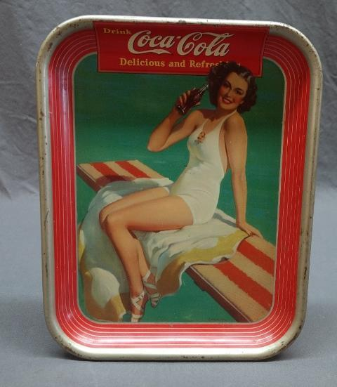 1939 Coca-Cola Tray with Bathing Beauty by Sundblom