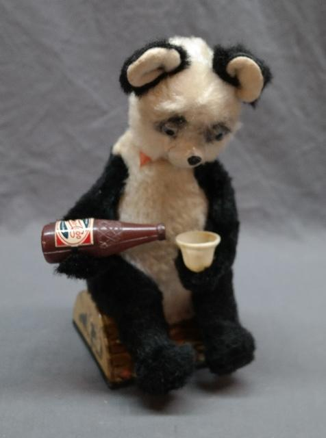 Battery Operated Pepsi Drinking Panda Bear made by Alps