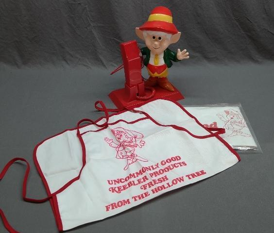 1985 Keebler Elf Telephone + Keebler Apron and Table Cover Promotional Set