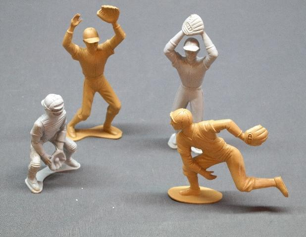 Lot of 4 Plastic Baseball Player Figures- 6 Inch