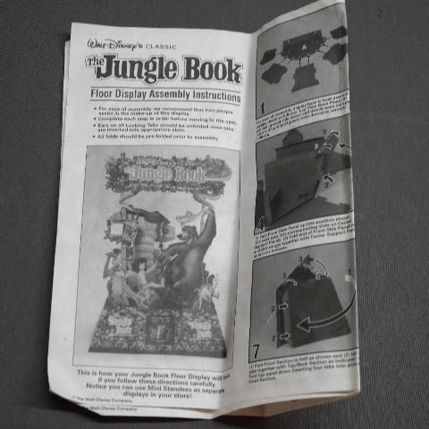 Walt Disney Jungle Book Video Cassette Release Point of Purchase Display in Original Box