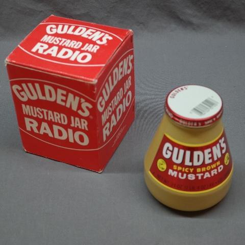 Gulden's Mustard Jar Novelty Radio in Original Package