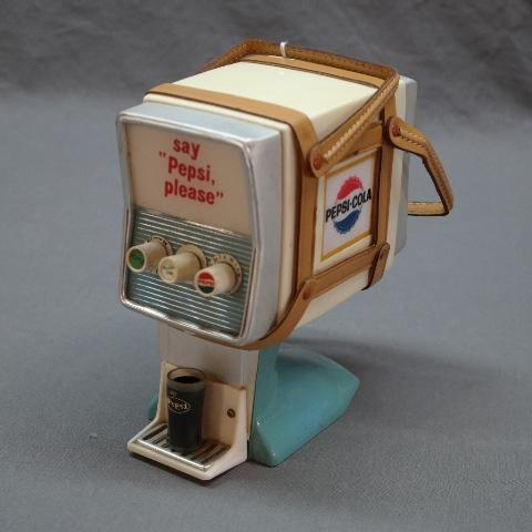 Say Pepsi Please Transistor Novelty Radio- Boat Motor Style Fountain Look with Leather handles