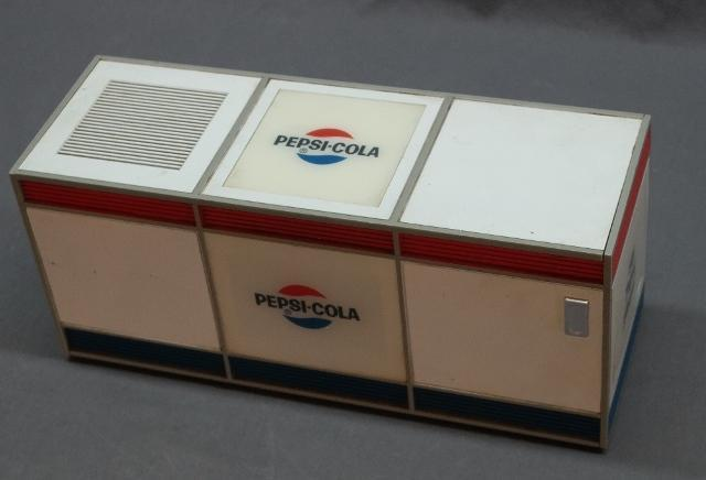 Pepsi-Cola Electric Radio- Lift Top Chest Style Cooler
