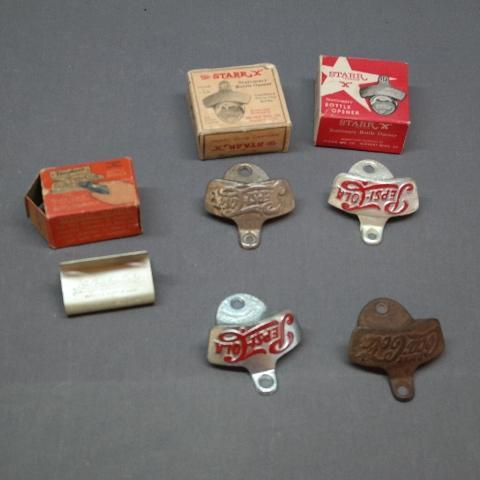 Lot of Early Pepsi-Cola + Coca Cola + Nu Grape Bottle Openers + More