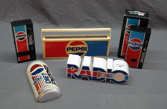 Lot of 5 Various Pepsi Radios- Novelty Radios- some in Package
