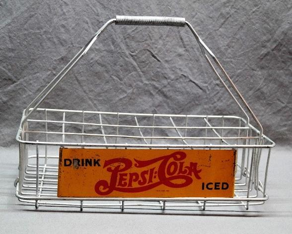 Drink Pepsi-Cola Iced 18 Bottle Metal Carrier