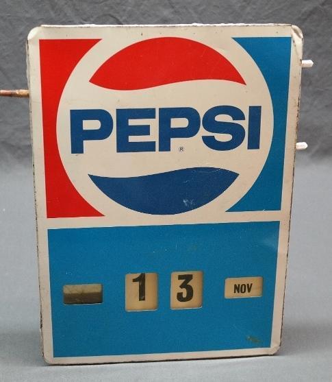 1970s Pepsi Perpetual Calendar Sign