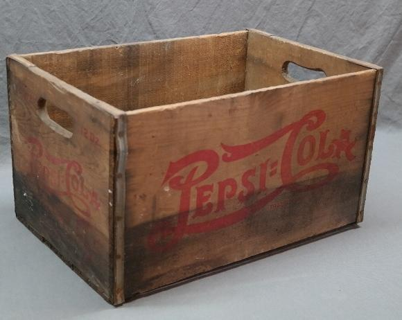 Double Dot Pepsi Cola Double Size 5 Cent 2 Dozen Bottle Crate