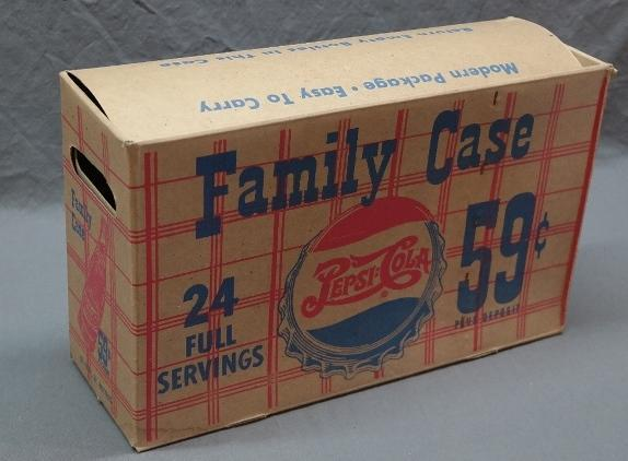 Pepsi-Cola Cardboard Family Case Carrier- 24 Full Servings 59 Cents