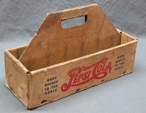 Single Dot Pepsi-Cola More Bounce to the Ounce/ Bubble Up Open Top Bottle Carrier