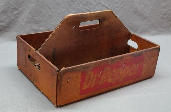 Dr Pepper Waxed Cardboard Bottle Carrier