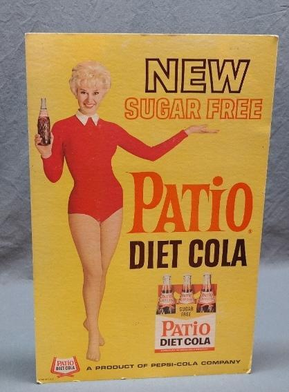 New Sugar Free Patio Diet Cola Cardboard Advertising