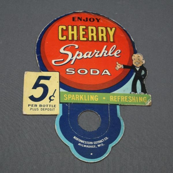 Enjoy Cherry Sparkle Soda Diecut Bottle Topper Advertising Display