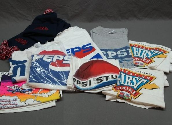 Lot of Various Pepsi Tee Shirts, Stocking Cap