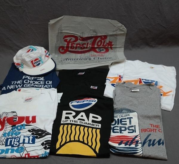 Lot of Various Pepsi Tee Shirts, Painters Cap
