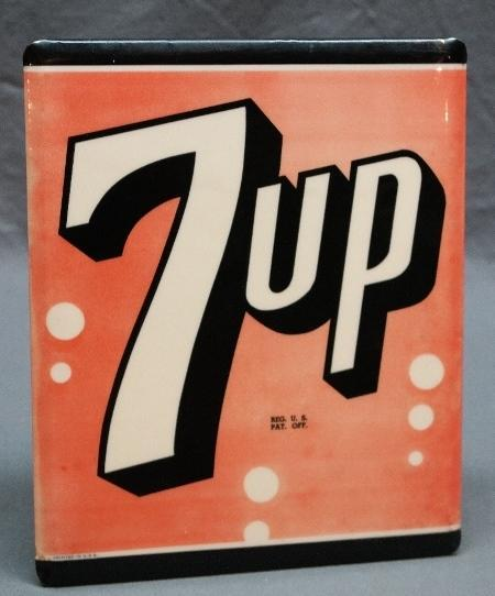 7 Up Easel Back Celluloid Advertising Sign