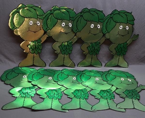 Lot of Green Giant Little Sprout Cardboard Stand Ups- Foil Faced