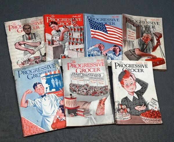 Lot of 1930s-1940s Progressive Grocer Magazine/Books
