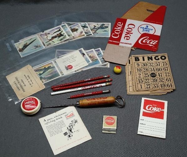 Lot of Various Coca-Cola Avertising-WWII Aircraft/YO-YO & More