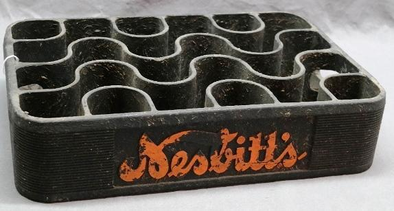 Early Heavy Plastic Molded Nesbitt's 24 Bottle Tray