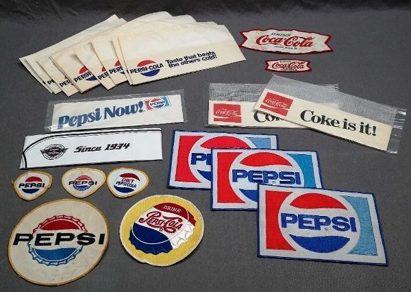 Lot of Various Soda Patches & Diner Hats/Caps