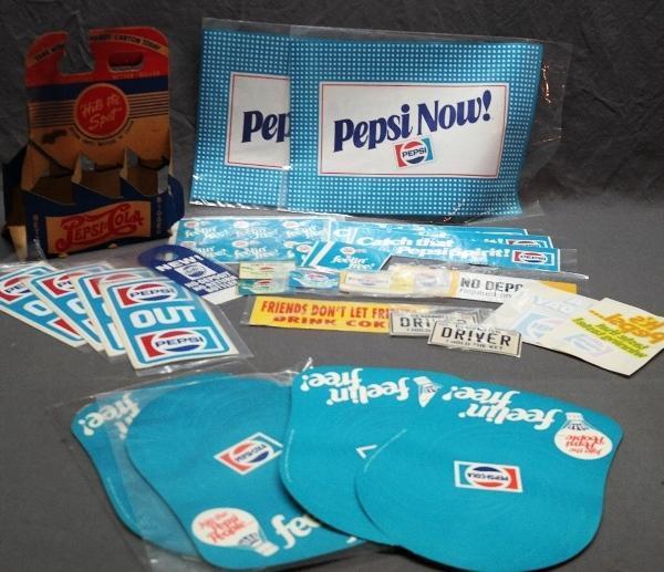 Lot of Paper Pepsi-Cola Advertising & Decals