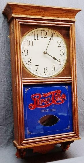 Pepsi Cola Nostalgia Wood Cased Wall Clock