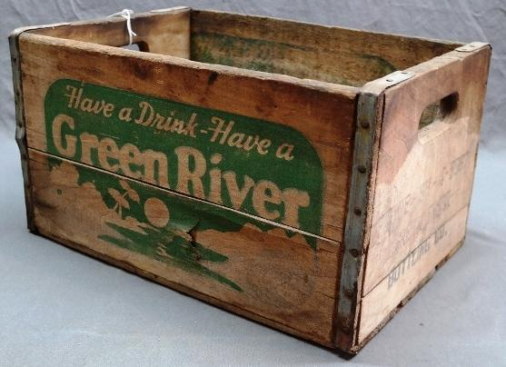 Green River Wooden Bottle Crate