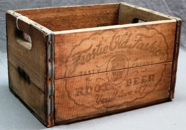 Frostie Old Fashioned Root Beer Wooden Crate