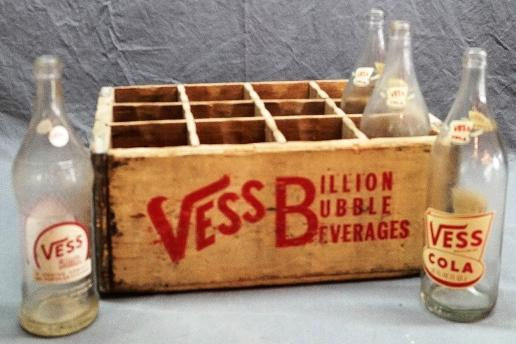 Vess Billion Bubble Beverages Wooden 12 Family Size Bottle Crate/Tray