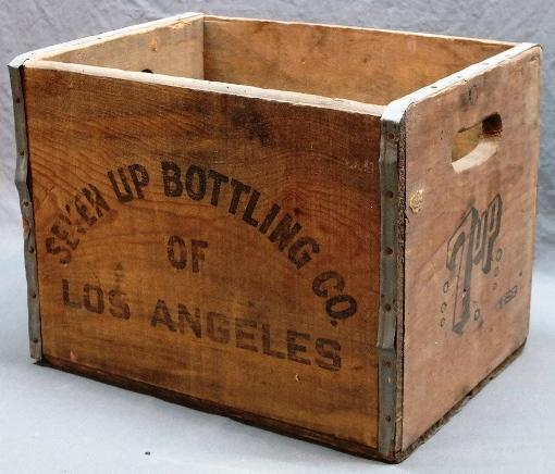 7 Up Bottling of Los Angeles Wood Crate