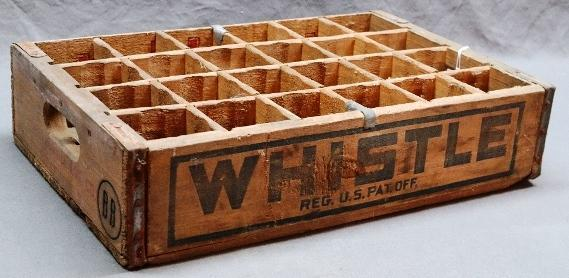 Whistle /Double Cola Soda 24 Bottle Soda Tray- Bellville Illinois