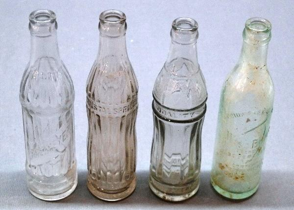 Lot of 4 Various Unusual Soda Bottles