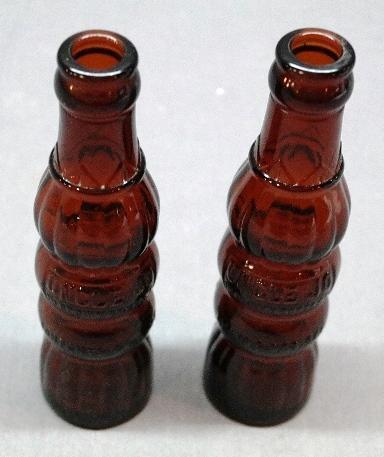 Lot of 2 Uncle Jo in Brown Soda Bottles-