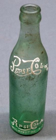 Double Dot Pepsi Script Straight Side Bottle- Bloomington Ill