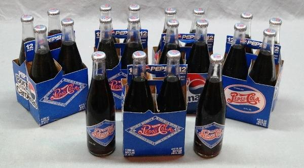Lot of 5 Four packs of Pepsi-Cola Limited Edition Early 1900s Replica Bottles