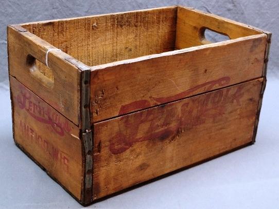 Wooden 1950s PEPSI-COLA Crate from Antigo, Wis.